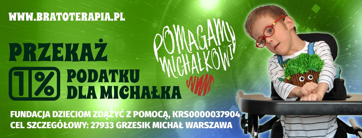 procent (1%) podatku z PIT dla Michałka Grzesika - Bratoterapia.pl